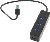 USB Hub ORICO W5PH4-3S-BK USB 3.0