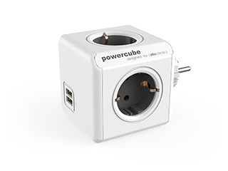 Разветвитель Allocacoc PowerCube Original USB GREY